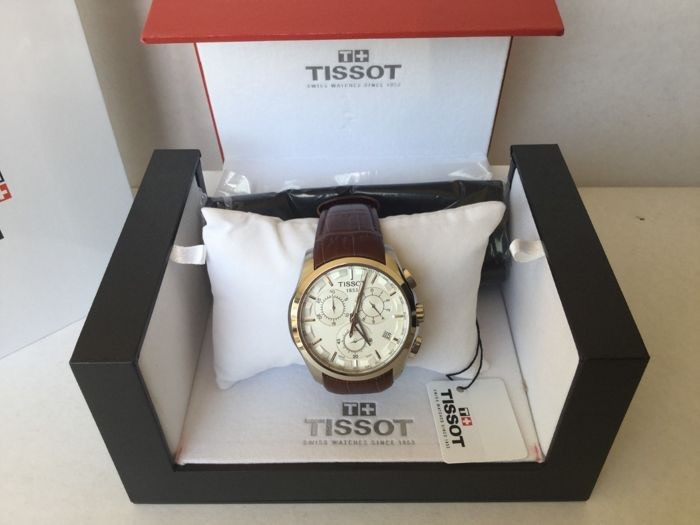 bcc3bdd6620 Relógio Tissot Couturier T035.617.16.031.00 Branco Couro - R  1.278 ...