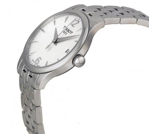 relógio tissot feminino tradition prata/aço original suíço