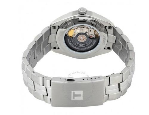 relógio tissot powermatic 80 pr 100 aço/branco automático