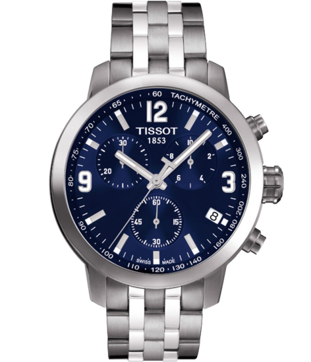 9d69a7a129c relógio tissot prc 200 t055.417.11.047.00 azul novo aço. Carregando zoom.