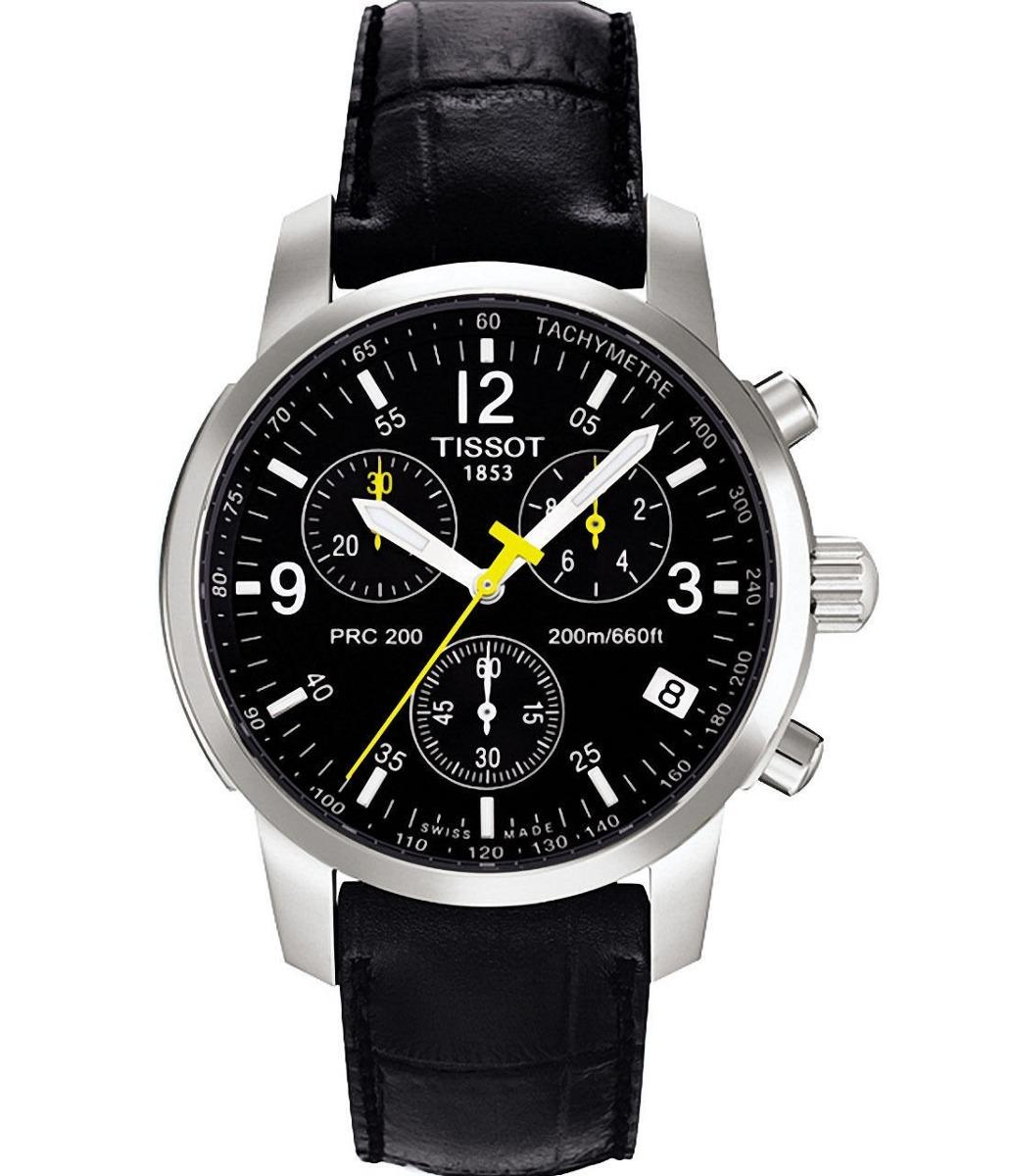 f54b89ccb58 relógio tissot prc200 original couro preto garantia 3 anos. Carregando zoom.