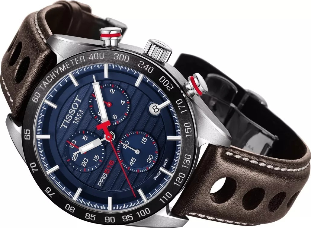 93a422924e3 Relógio Tissot Prs 516 T1004171605100 Azul E Marrom + Nf - R  1.250 ...