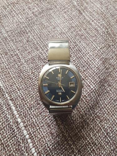 relógio tissot seastar automatic dark blue dial década 60