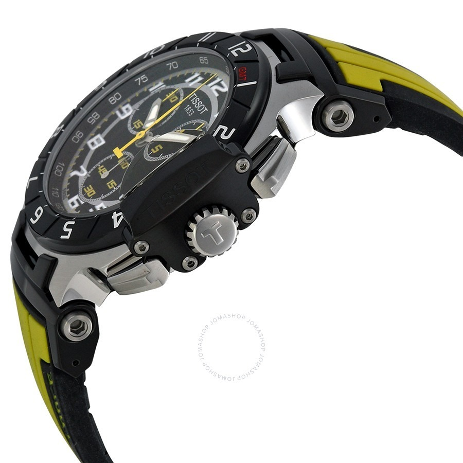 95a4a20050b relógio tissot t-race amarelo chronograph safira. Carregando zoom.