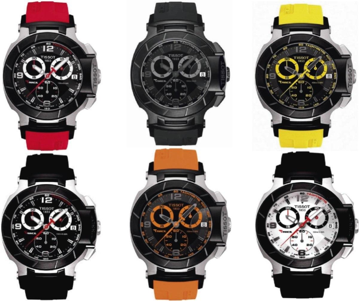 88f468e1217 Relógio Tissot T-race Moto Gp Rose   Preto   Branco   - R  1.759