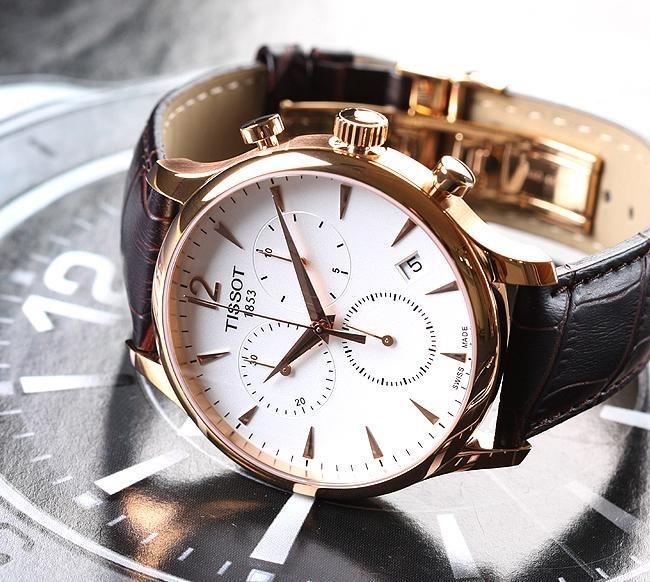 76bd20c32d6 Relógio Tissot Tradition T0636173603700 Rose Original - R  1.278