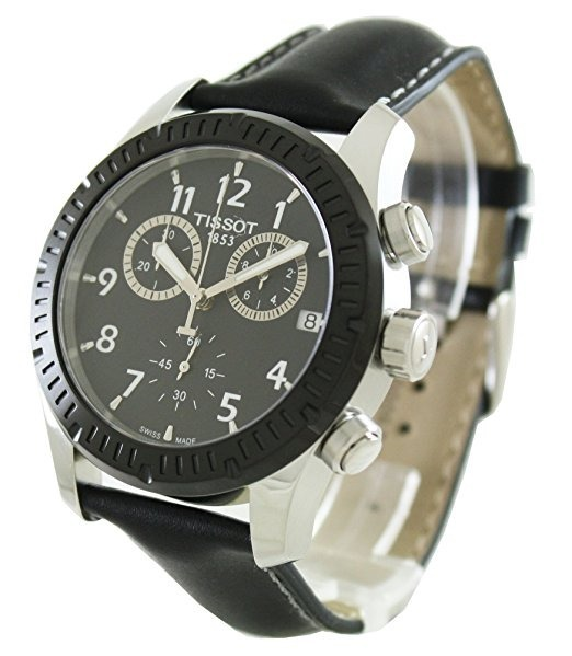 2e3657d9af8 Relógio Tissot V8 Chronograph Black Dial Black Leather Men s - R ...