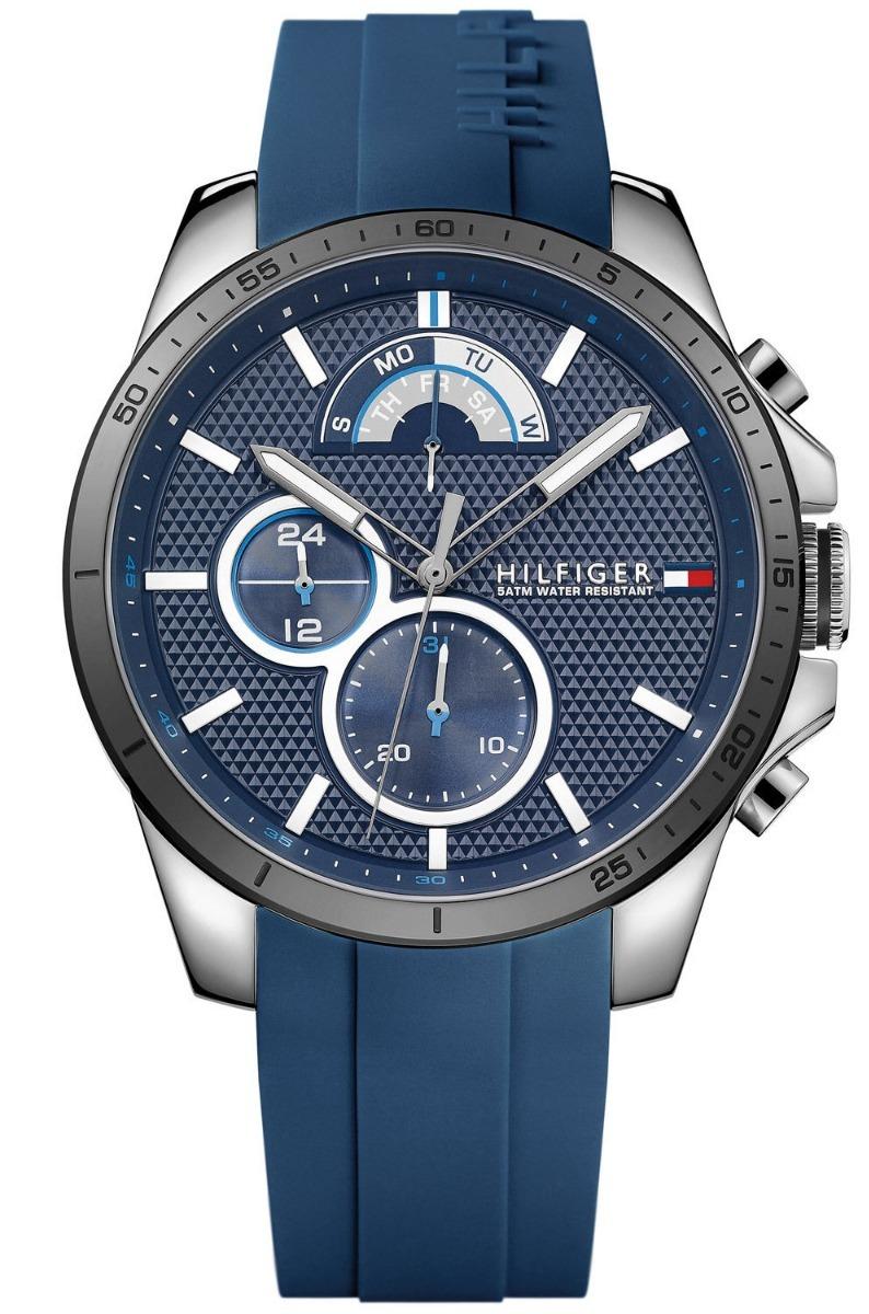 a04310e5732 relogio tommy hilfiger 1791350 silicone azul original. Carregando zoom.