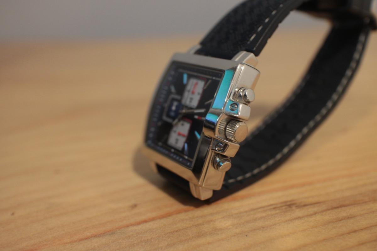 277ed897e68 Relógio Cronógrafo Tommy Hilfiger Quadrado Azul Usado - R  329