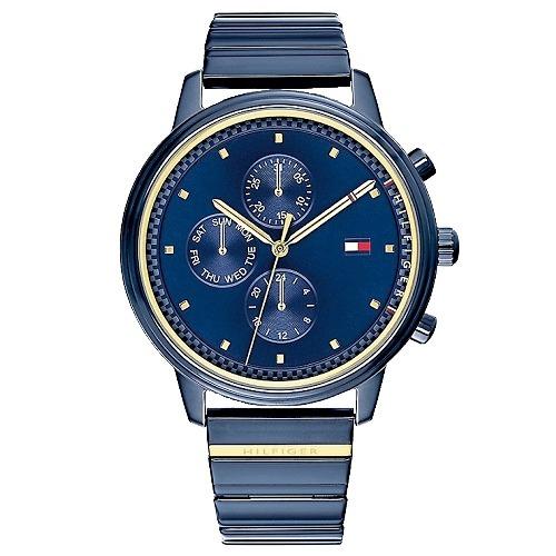 7101d49fbe9 Relógio Tommy Hilfiger Feminino Aço Azul - 1781893 - R  1.260