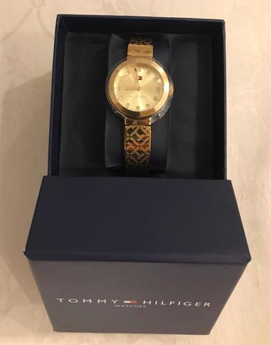 relógio tommy hilfiger feminino aço dourado