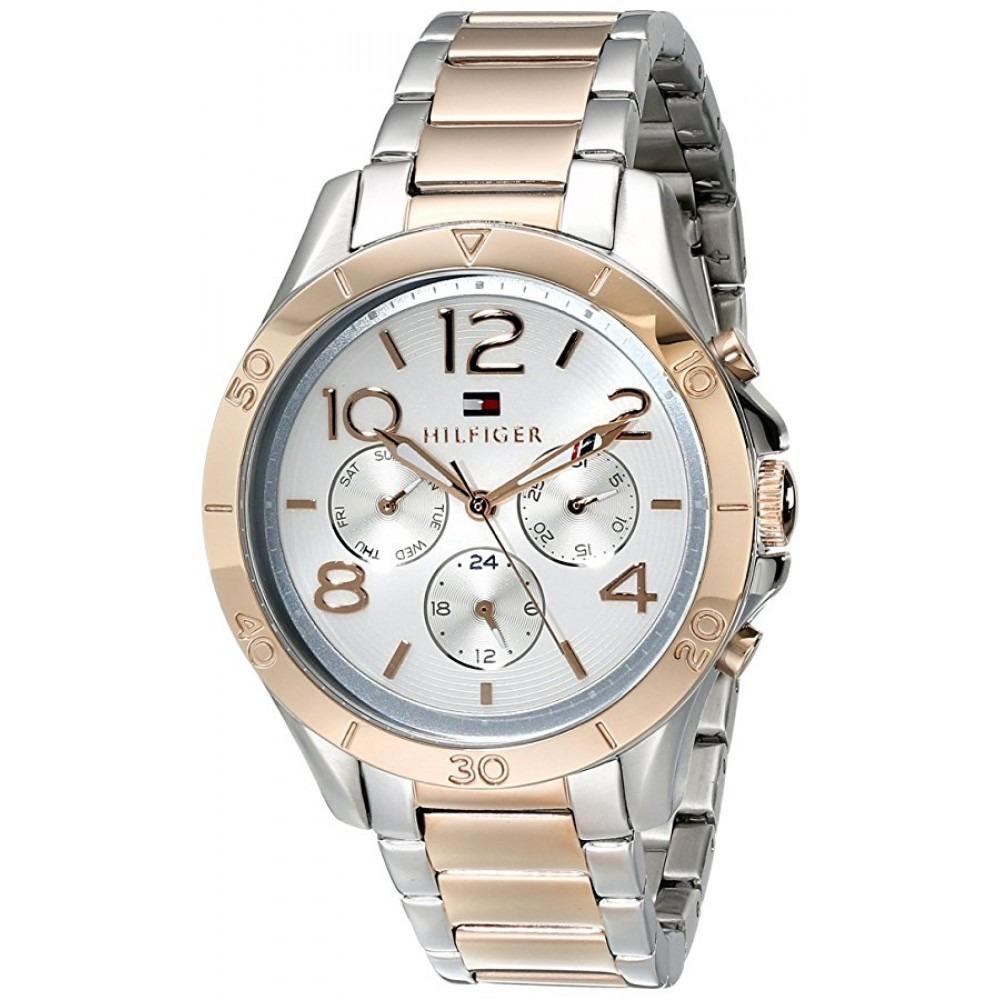 3dc4bcd236c Relógio Tommy Hilfiger Feminino Aço Dourado E Prata 1781525 - R  760 ...