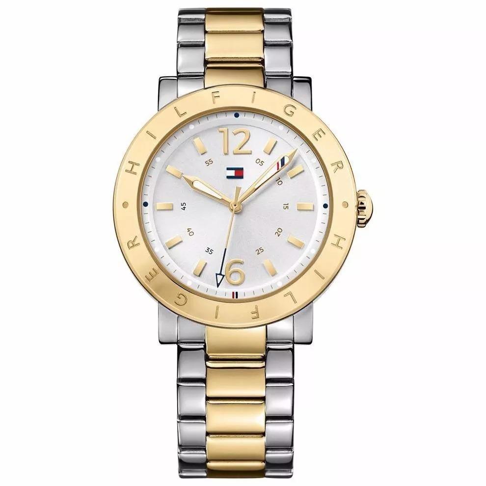cd0920bf48d relógio tommy hilfiger feminino prateado e dourado - 1781620. Carregando  zoom.