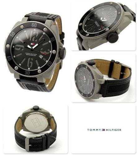 relogio tommy hilfiger masculino 1790690 original couro 47mm