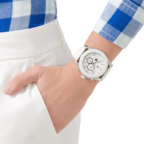 relógio tommy hilfiger th1781052 orig chron anal silver whit