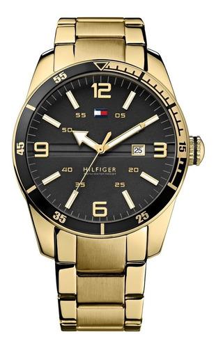 relógio tommy hilfiger th1790917 orig chron anal gold black