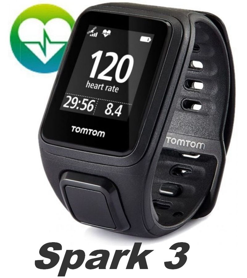 d3da70096b0 relógio tomtom spark 3 monitor cardio gps multi-sport... Carregando zoom.