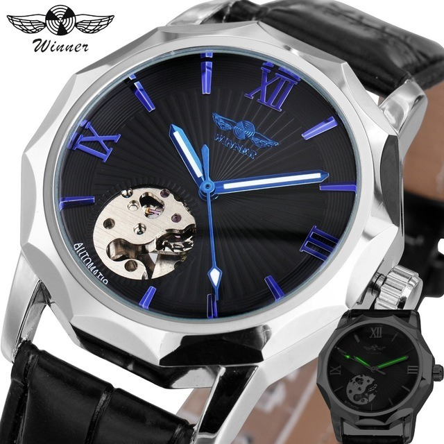 b3ff14731c4 Relógio Top Automático Mecânico De Luxo Esqueleto - R  174