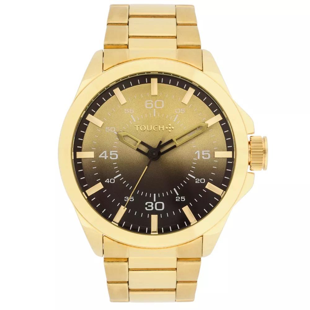 d77f00f9d83 Relógio Touch Dourado - R  250