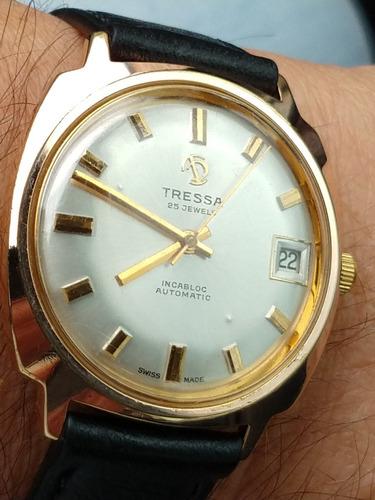 relógio tressa swiss- automático ouro