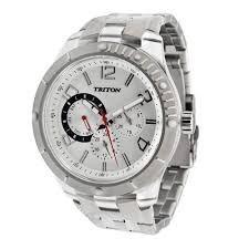 relógio triton - original - prateado - 12x sem juros