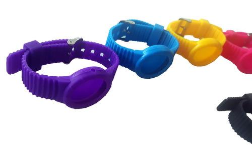 relógio troca pulseira unissex sete pulseiras coloridas-novo