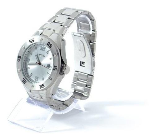 relógio unisex prata triton eyewear mtx251