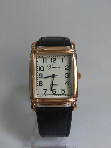 relógio unisex pulseira em couro