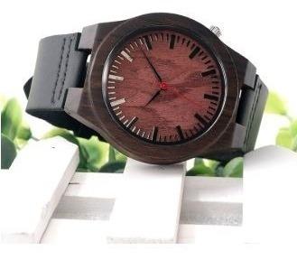 relógio unissex bambu madeira analógico bobo bird b15 lindo