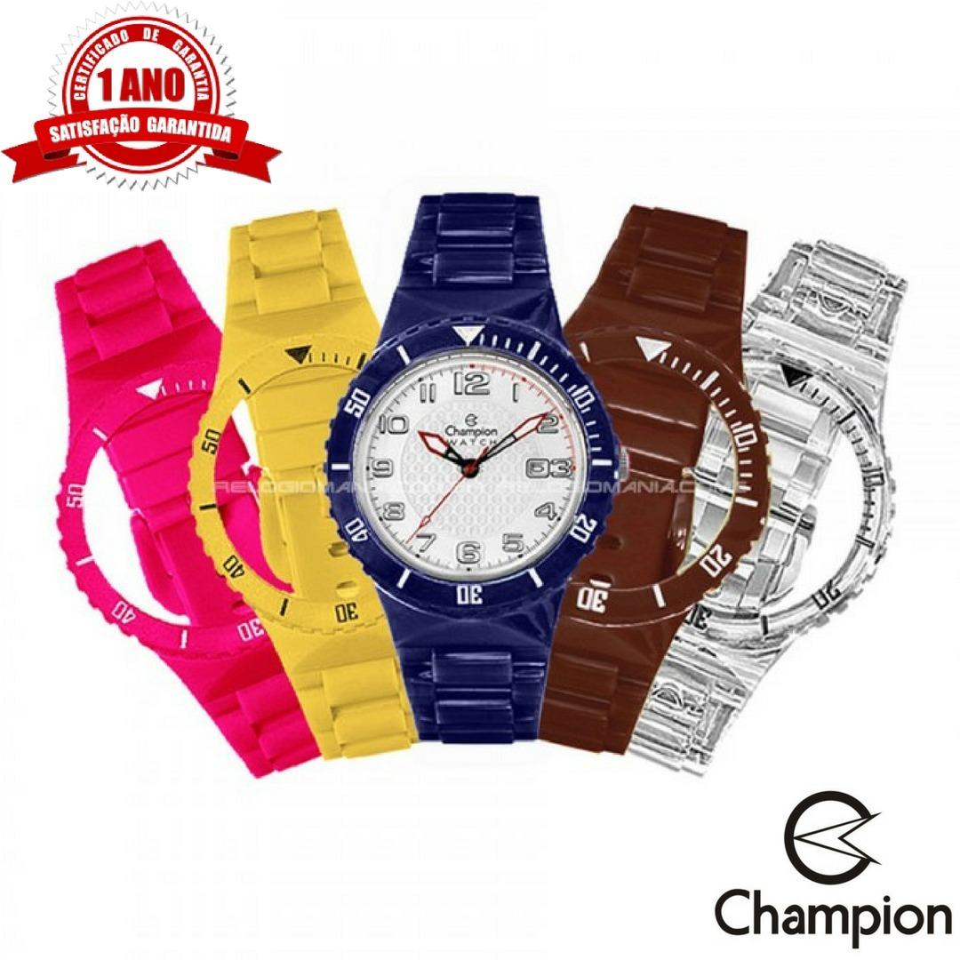 0adc0035845 relógio unissex champion troca pulseira original cp30119x. Carregando zoom.
