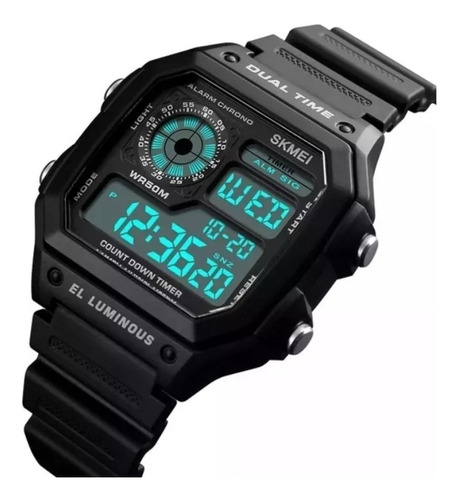 relógio unissex digital esportivo prova d'água skmei 1299