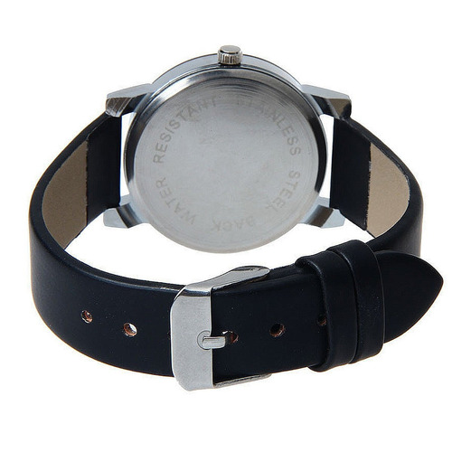 relógio unissex quartzo luxo  pulseira de couro