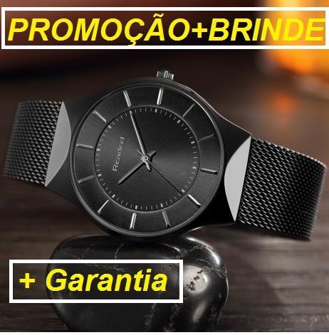 072c10500ec Relógio Unissex Slim Ultra Fino De Luxo+brinde+garantia - R  139
