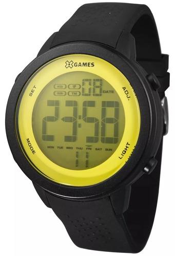 relógio unissex x-games digital xmppd475 amarelo preto top