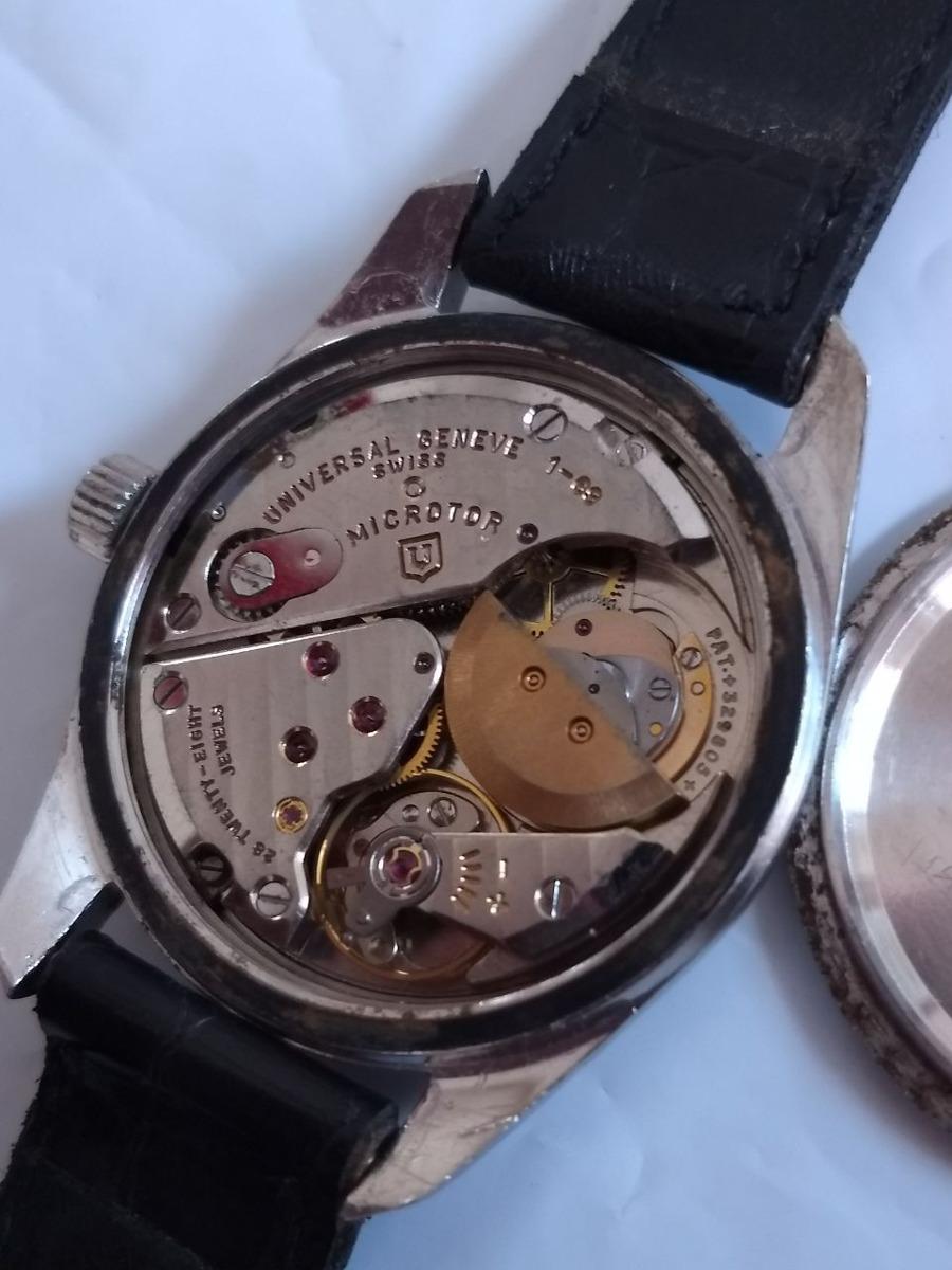 368fa2ab636 relogio universal geneve micro rotor polerouter date. Carregando zoom.