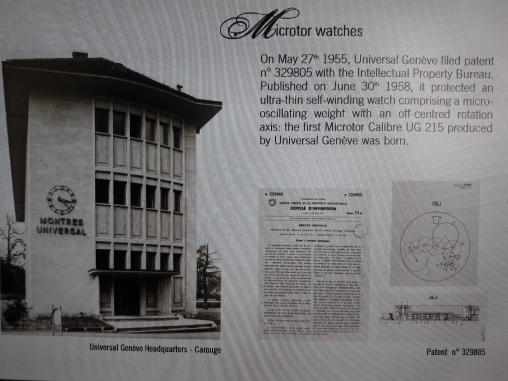 Relógio Universal Geneve Polerouter Data 1955-1959 Micro R