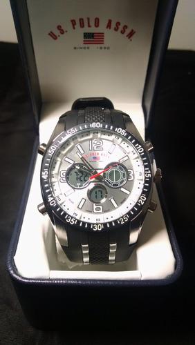b185503c5b1 Relógio Us Polo Assn Masculino Prata preto Original Promoção - R ...
