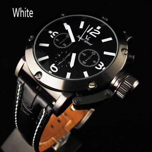 relógio v6 0045# preto  masculino militar : frete gratis