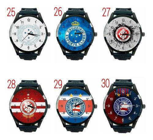 relógio varios modelos times futebol club esportivo novo personalizado t754