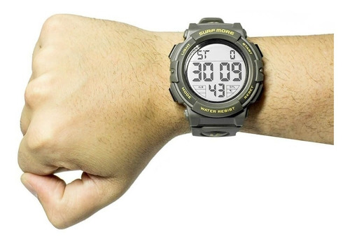 relógio verde militar digital masculino surf more 20003491m!