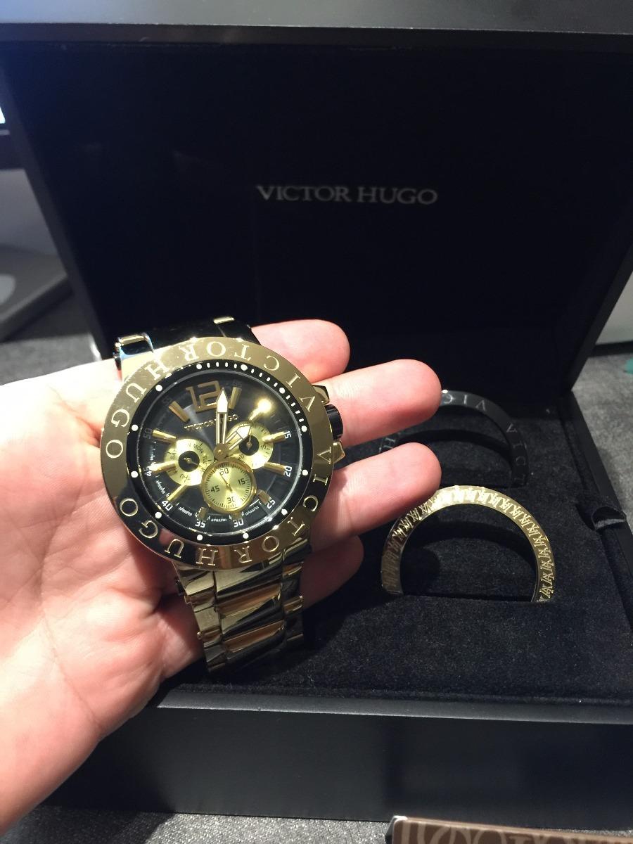 9baaabcedec Relógio Victor Hugo Unissex Vh10090gsg 02m - Sem Juros! - R  1.990 ...