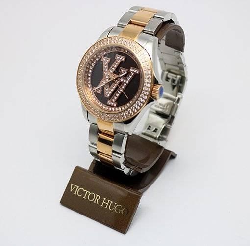 5b7859e7047 Relógio Victor Hugo Vh10134 12m Rose E Prata