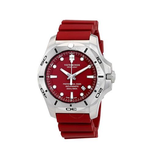 relógio victorinox 241736 diver borracha vermelho original
