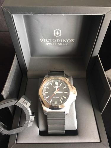 relógio victorinox inox preto  impecável oportunidade