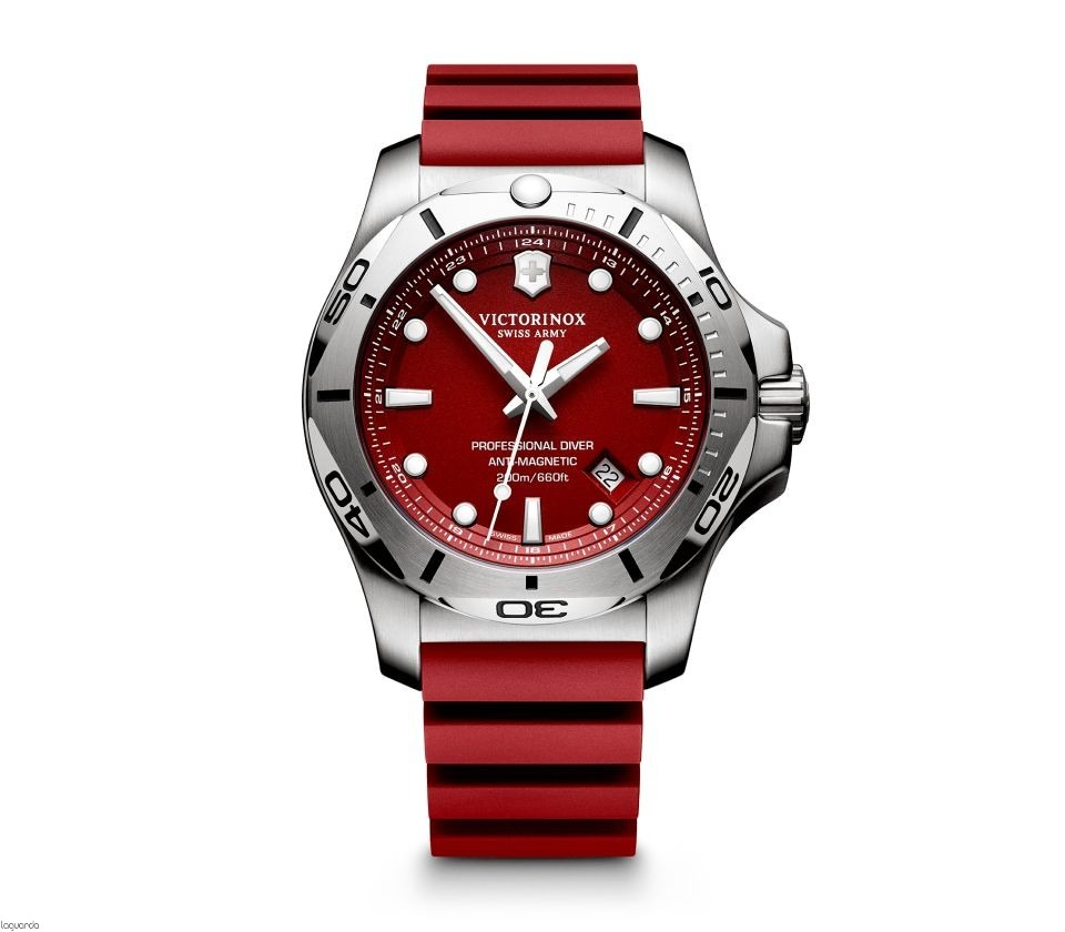 4c973767af7 relógio victorinox inox professional diver vermelho 241735. Carregando zoom.