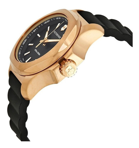 relógio victorinox inox v preto dial ladies watch-241808