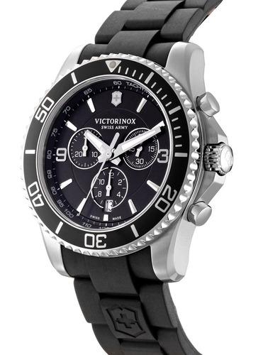 relógio victorinox maverick chronograph preto 241696