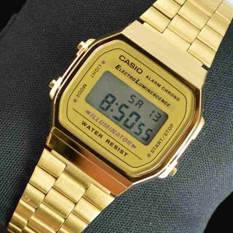 b25295c3d05 Relógio Vintage Digital Casio Dourado Promoção - R  120