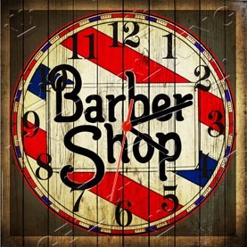 f073c1f414f Relógio Vintage King Mdf 27x27 Barber Shop Cloqbc.0012 - R  29