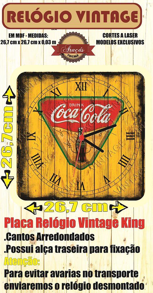 4203d5a1ff9 relógio vintage king mdf 27x27 barber shop cloqbc.0012. Carregando zoom.